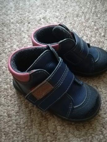 Кожаные ботинки с утеплителем