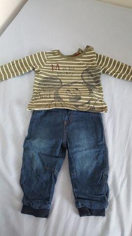 Komplet. Spodnie i koszulka 86
