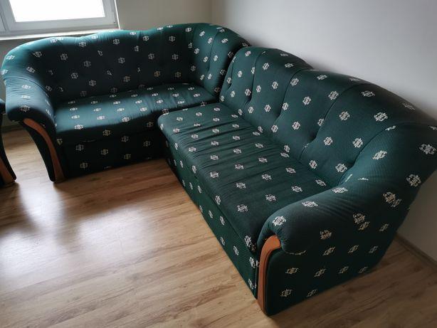 Kanapa narożna z funkcją spania + 2 fotele