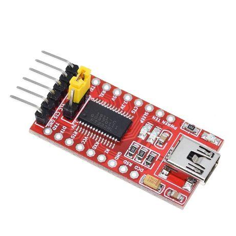 FT232RL USB-UART конвертер, преобразователь USB-TTL 3.3/5V, MiniUSB