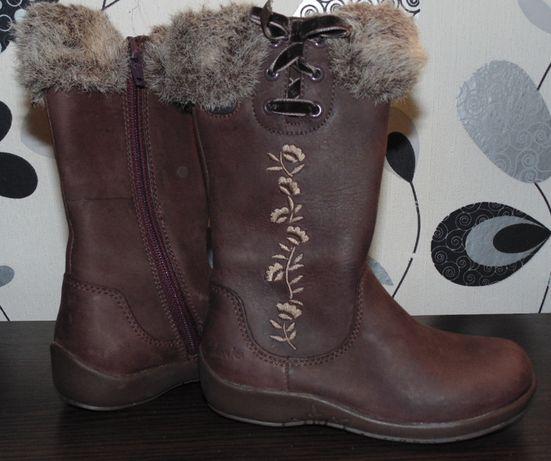 Детские зимнии сапожки Clarks Gore-tex 25 размера стелька 15см