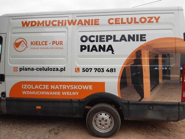 Piana-Celuloza ocieplanie poddaszy pianką PUR Kielce i okolice