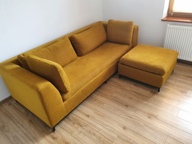 Sofa 3-os rozkładana CustomForm Ambient z pufem