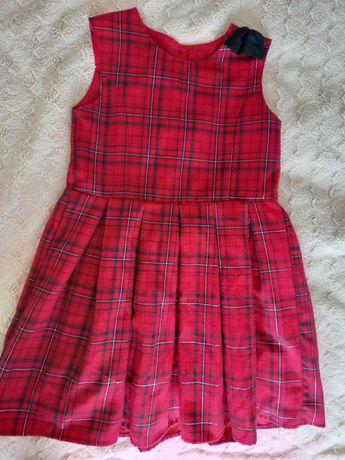 Świateczna sukienka czerwona kratka roz.122