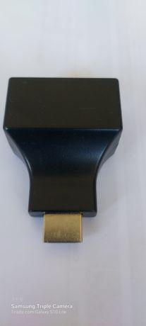 Adaptador hub HDMI e RJ45