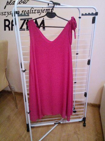 Lekka sukienka fuksja róż rozmiar XL