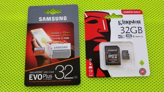Karta pamięci 32GB EVO Plus Samsung ;  Kingston