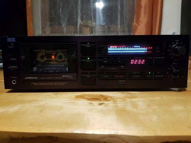Magnetofon PIONEER CT-A7X Wysoki Model Rarytas! Digital! Elite 1985r.