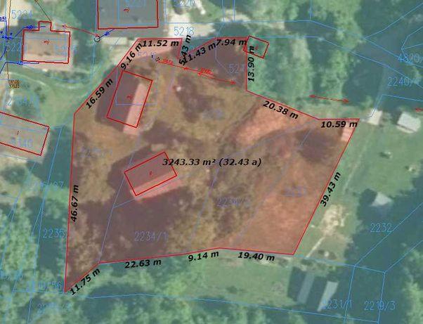 Działka budowlana , tereny zielone , las , 4km od Jezioro Mucharskie
