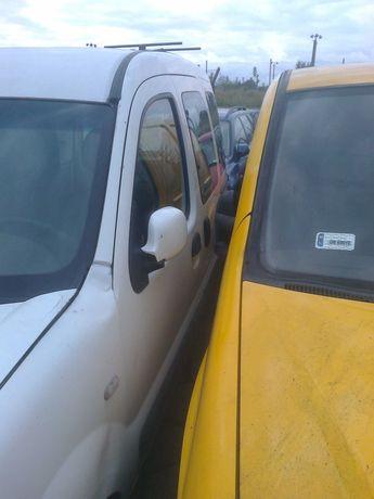 renault kangoo drzwi lewe przednie kompletne białe