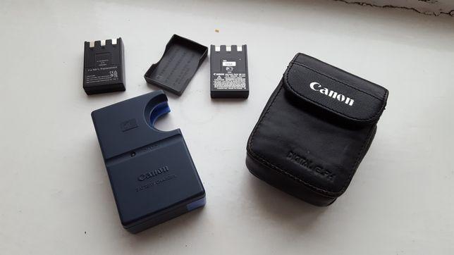 Зарядное устройство для Canon + 2 батареи, адаптер