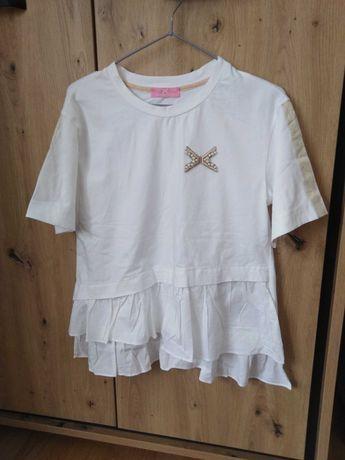 Bluzka biała z baskinką Elisabeth
