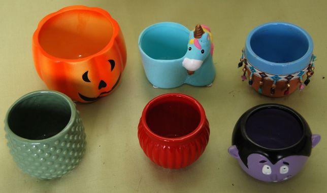 6 x Doniczki ceramiczne osłonki
