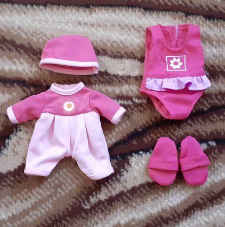 Фирменная одежда, одяг,тапочки, купальник на маленькую куклу,пупса