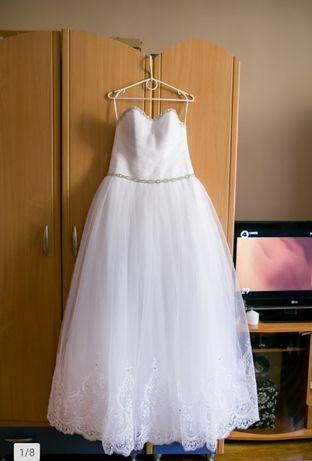 Suknia ślubna księżniczka z gorsetem wiązanym 36-40