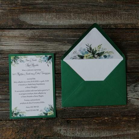 Zaproszenia ślubne zieleń