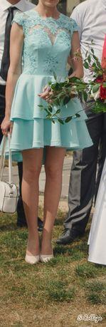 Błękitna sukienka Elizabeth Collection wesele, bal, studniówka, druhna