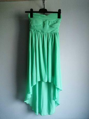 Asymetryczna sukienka bez ramiączek