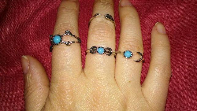 Anéis novos, para utilizar em todos os dedos