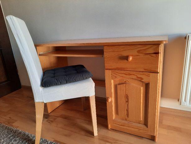 meble sosnowe - komoda, biurko z krzesłem
