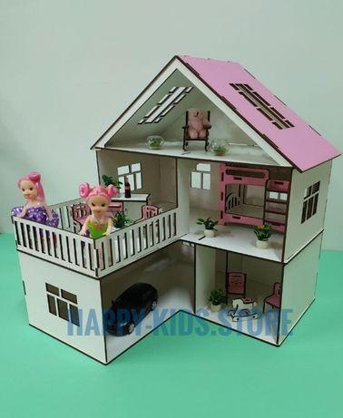 Деревянный Кукольный Домик для ЛОЛ с Мебелью! Ляльковий будинок +меблі