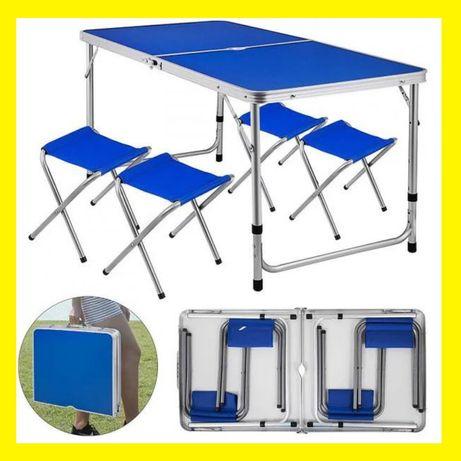 Раскладной стол для пикника стол чемодан складной столик + 4 стула опт