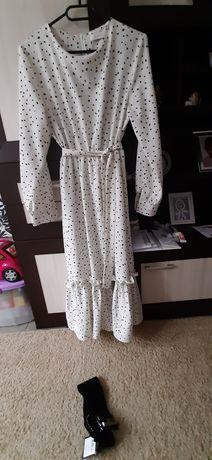 Sukienka w kropki groszki cętki