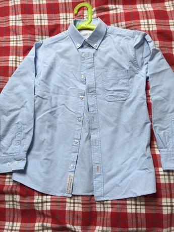Elegancka koszula jasnoniebieska na 140 dla chłopca