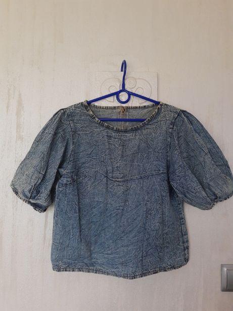 bluzka damska jeansowa UNISONO