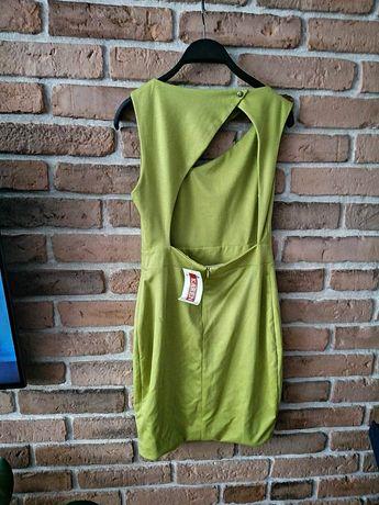 Sukienka groszkowa z wycięciami #wiosna #Wielkanoc