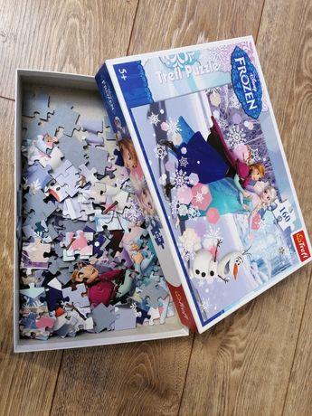 Puzzle 160 elementów kraina lodu