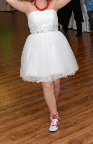 Sukienka biała krótka