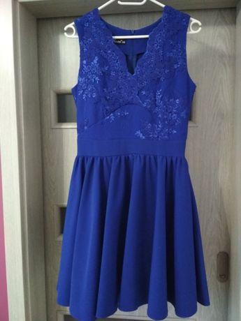 Sukienka 38 kobaltowa