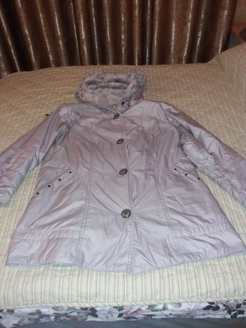 Куртка на флисе с капюшоном