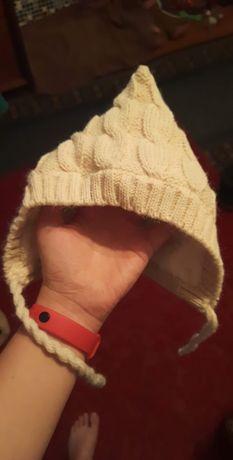Детская зимняя шапка 3-6 месяца