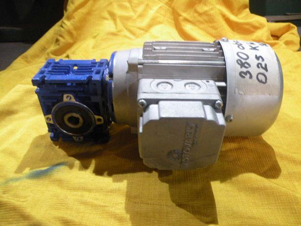 motoreduktor silnik przekładnia slimakowaRÓŻNE 380 obr 0,25kw 380v
