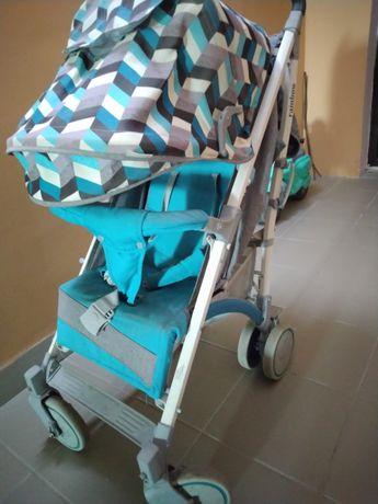 Візок тростина BabyHit Rainbow blue diamond. Коляска трость