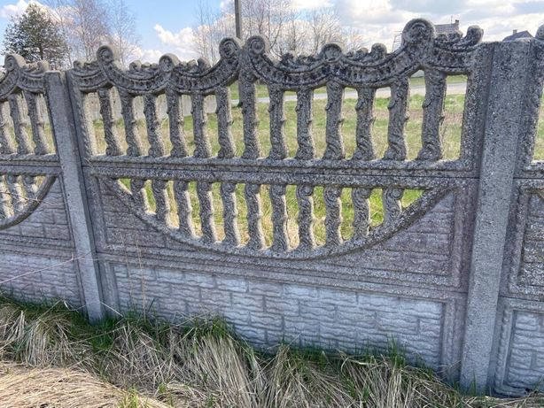 Betonowe panele ogrodzeniowe ok 150 szt