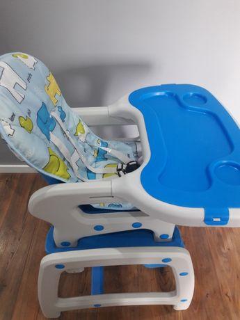 Fotelik ,krzesełko do karmienia 5w1 bujane Blue Ecotoys