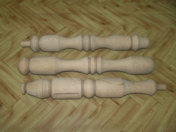 drewniane nogi dekoracyjne 3 szt