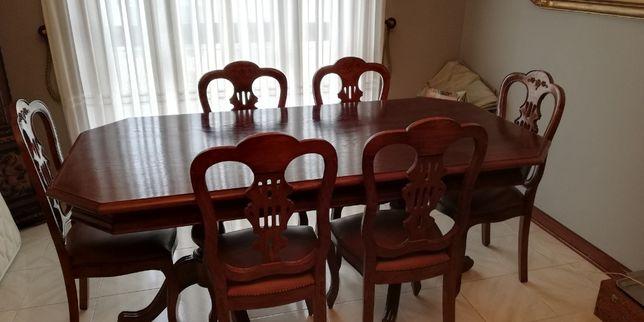 Mesa sala de jantar com 7 cadeiras
