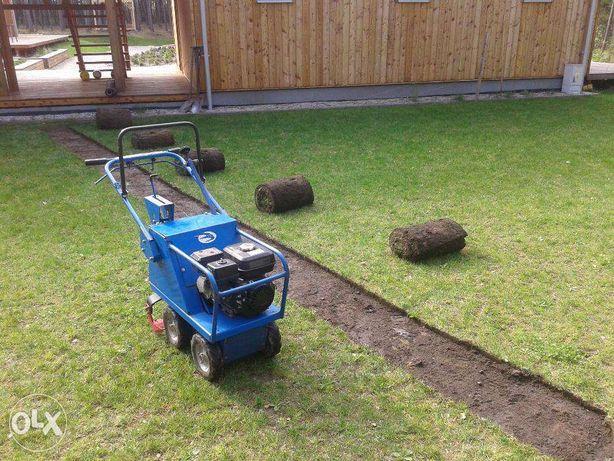 Zrywanie trawników usuwanie darni Wycinarka darni trawa z rolki