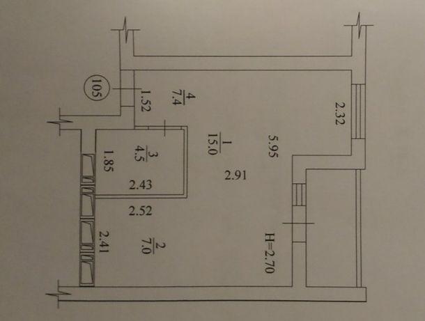 Продам 1 комнатную квартиру  Салтовка
