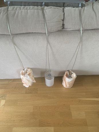Lampa wisząca trzy szklane klosze