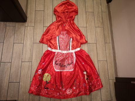 Strój czerwonego kapturka czerwony kapturek roz.11-12 lat(146-152cm)
