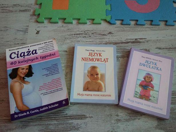 Zestaw książek dla przyszłej mamy.