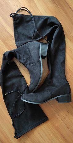 Buty muszkieterki firmy River Island, rozmiar 37 ,kolor czarny