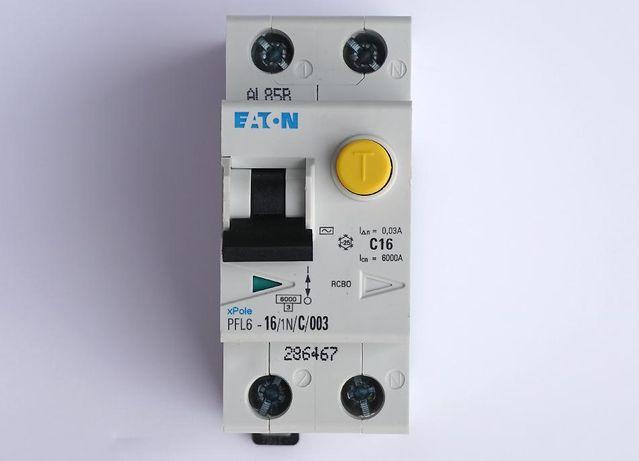 Дифференциальный автоматический выключатель PFL6-16/1N/C EATON 12шт