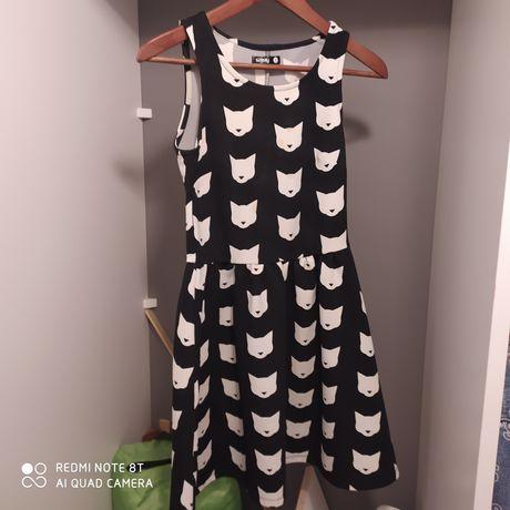 Sukienka w kotki