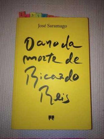 """Livro """"O Ano da Morte de Ricardo Reis"""" de José Saramago"""